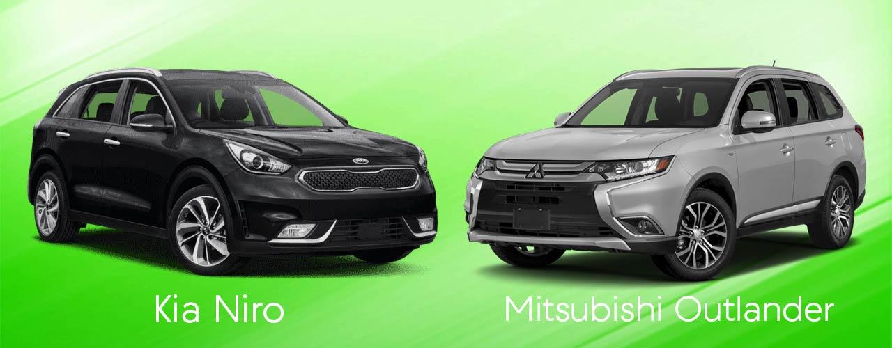 The Hybrid Suv Comparison 2018 Kia Niro Vs Mitsubishi Outlander